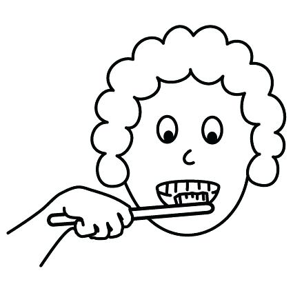 425x425 Brushing Teeth Coloring Pages For Brush Your Teeth Coloring Sheets