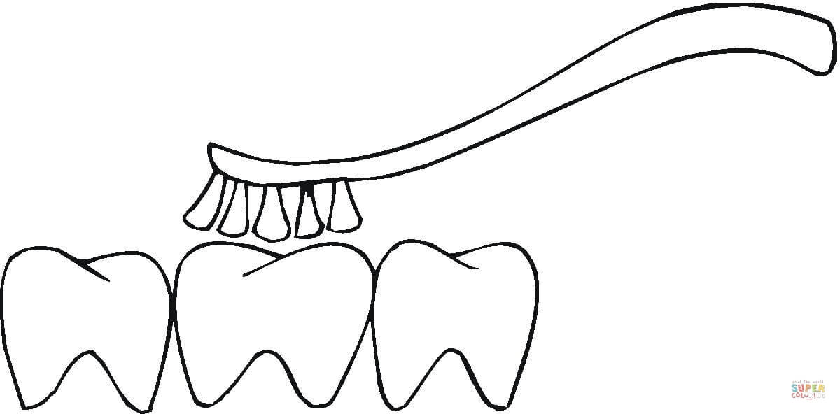 1200x592 Brushing Teeth Coloring Page Free Printable Coloring Pages