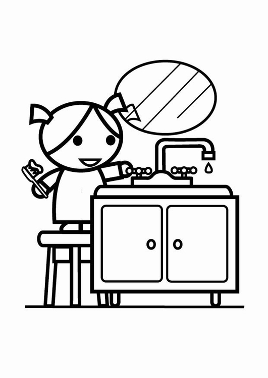 531x750 Coloring Page To Be Water Efficient, Turn Off The Tap (While
