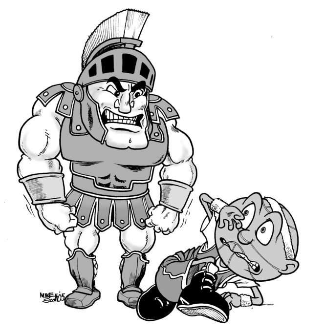 msu mascot coloring pages | Brutus Buckeye Drawing at GetDrawings.com | Free for ...