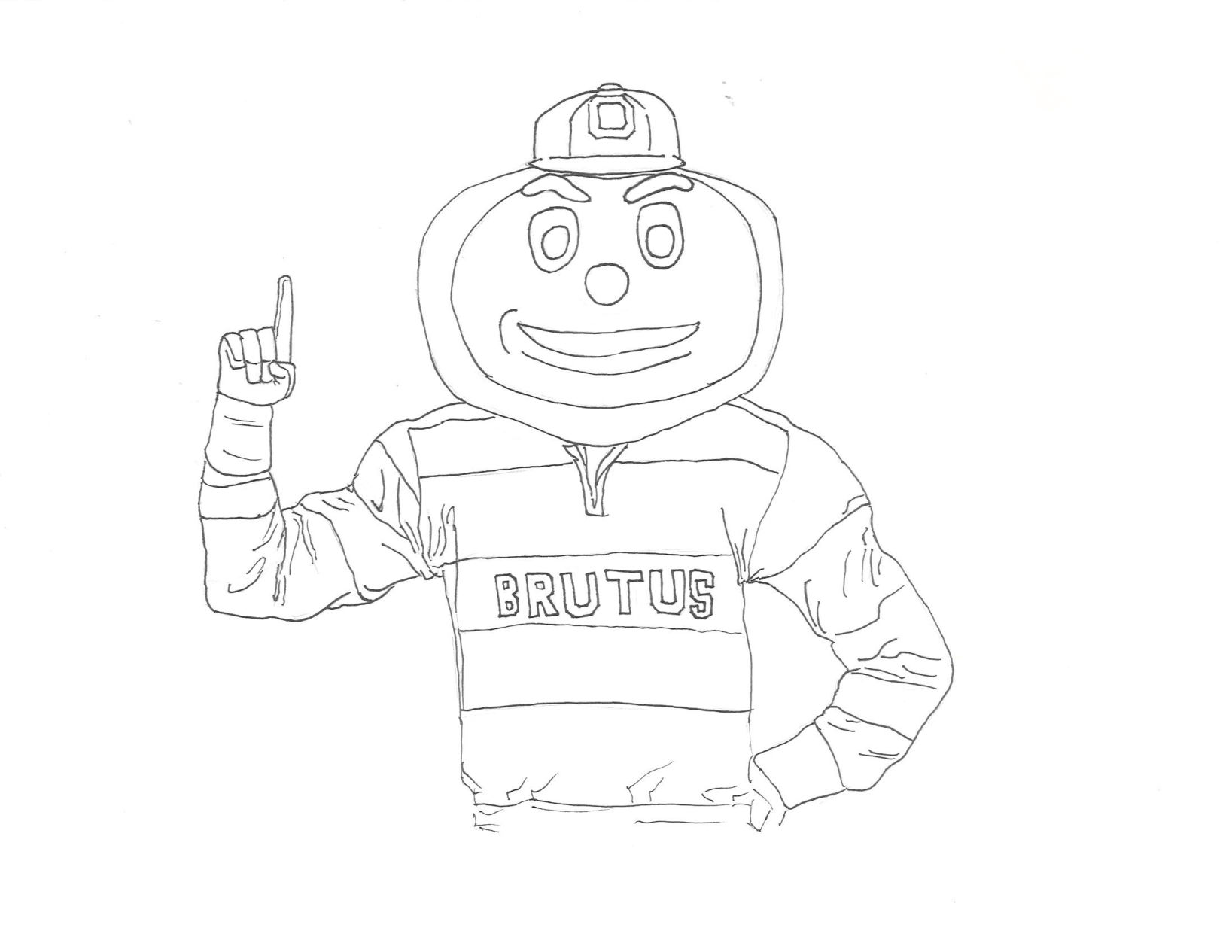Brutus Buckeye Drawing at GetDrawingscom Free for personal use