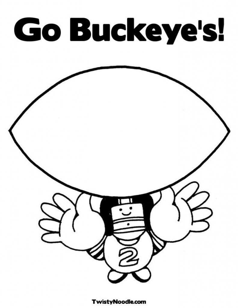 ohio state tree coloring page - brutus buckeye drawing at free for