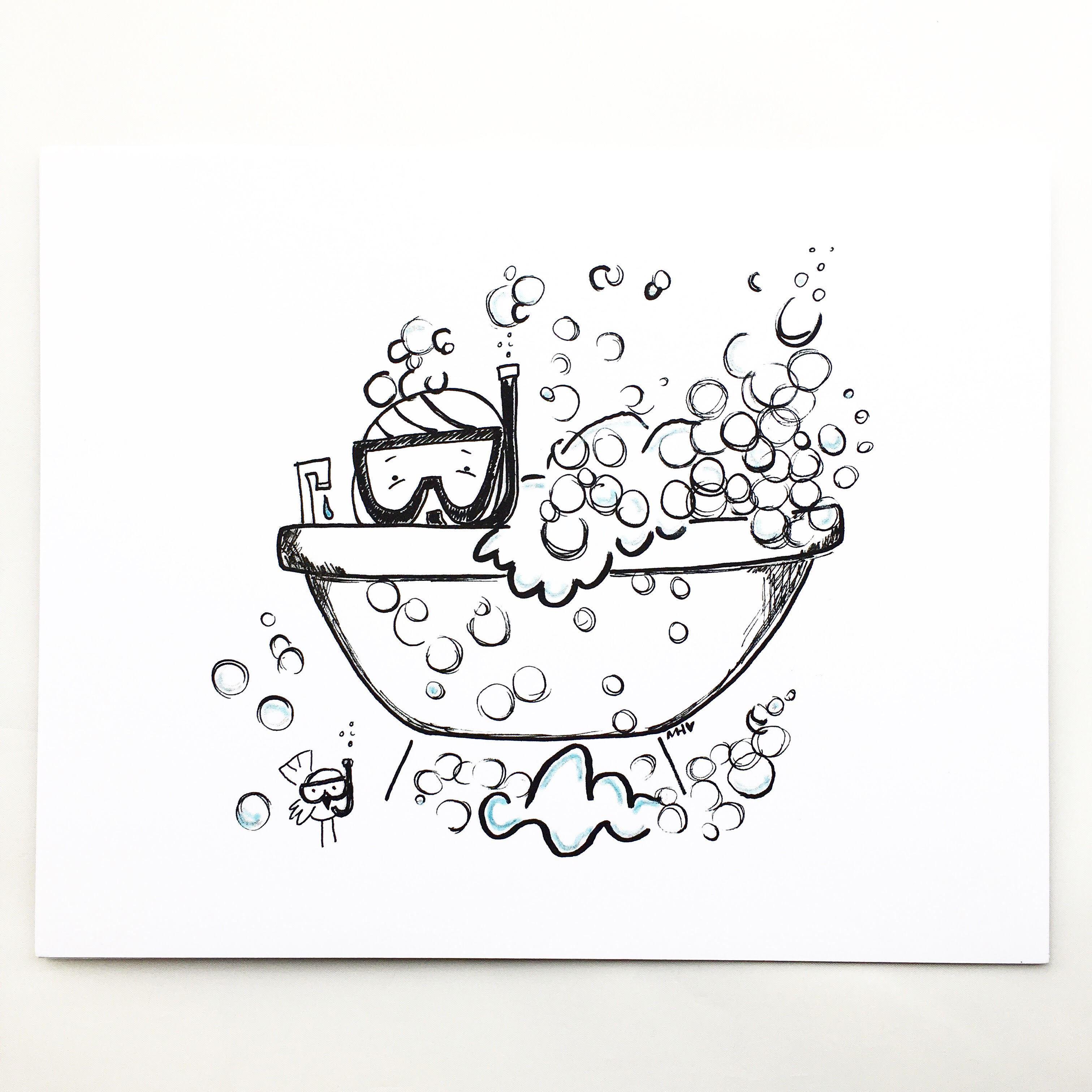 3023x3023 Bubble Bath Print