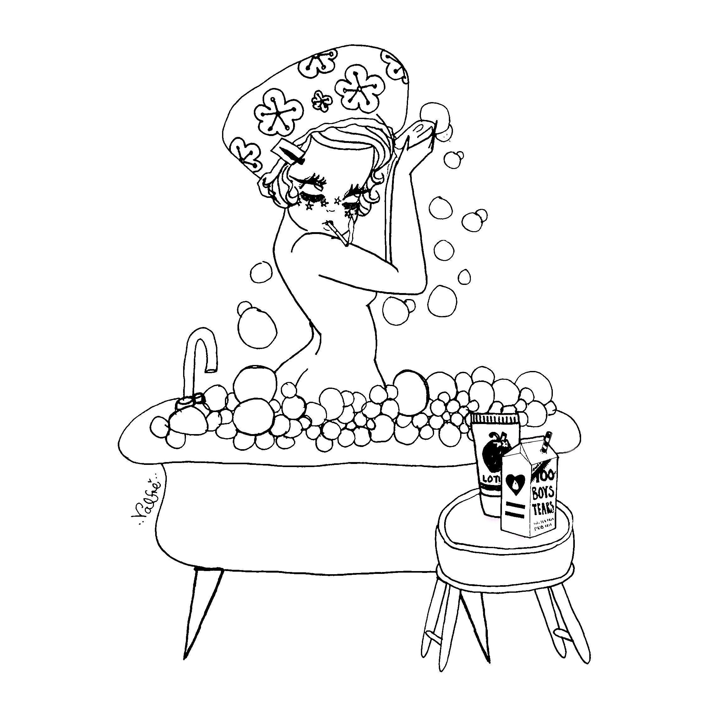 2254x2254 Bubble Bath Valfre Coloring Page Valfre Bubble Baths