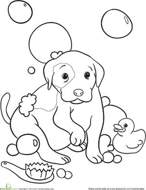 301x392 Color The Doggy Bubble Bath Bubble Baths