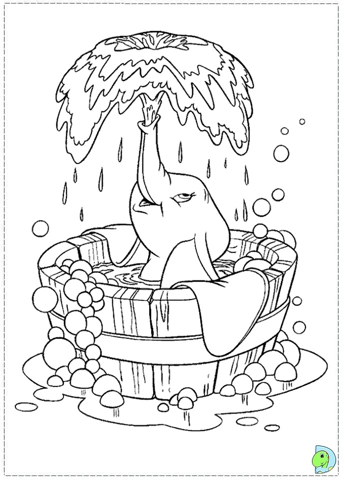 691x960 Dumbo In A Bubble Bath. Sunday Kids Coloring Pages Coloring