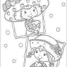 220x220 Strawberry Bubble Bath Coloring Pages