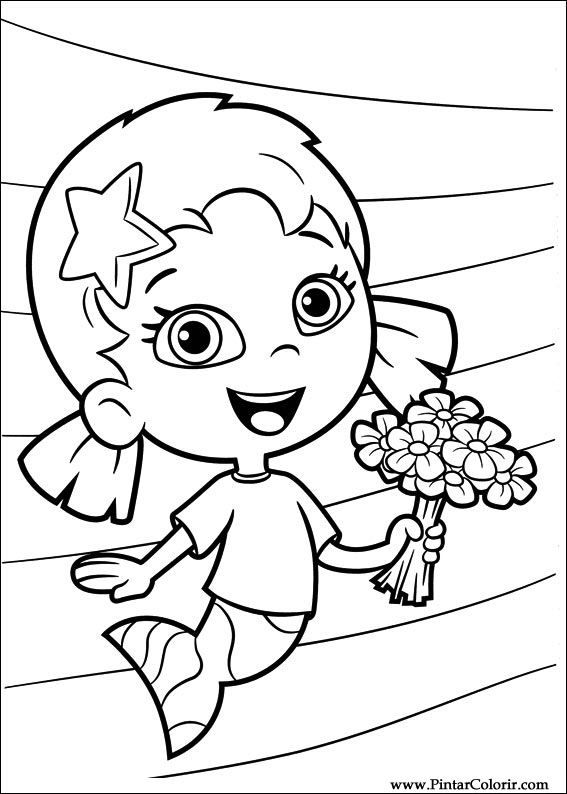 567x794 Drawings To Paint Amp Colour Bubble Guppies