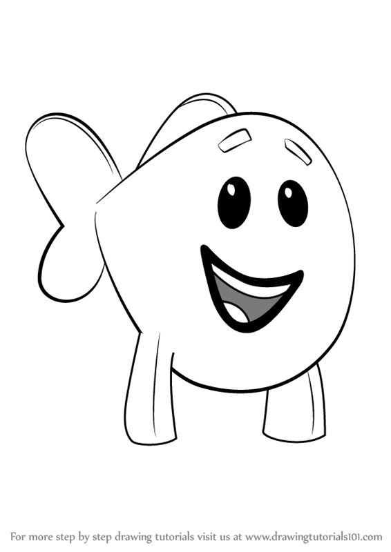 566x800 Learn How To Draw Little Fish From Bubble Guppies (Bubble Guppies