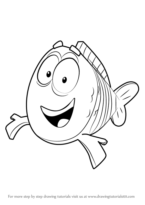 566x800 Learn How To Draw Mr. Grouper From Bubble Guppies (Bubble Guppies