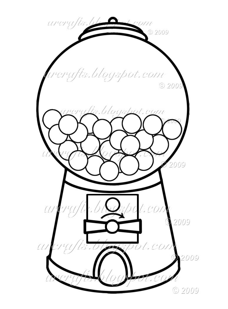 774x1050 Bubble Gum Machine Drawing Gumball Machine Coloring Page Picture I