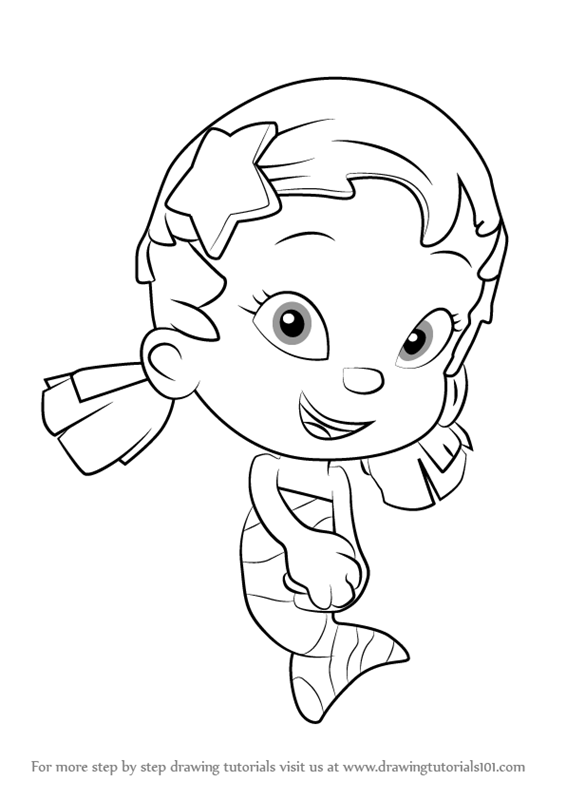 566x800 Learn How To Draw Oona From Bubble Guppies (Bubble Guppies) Step