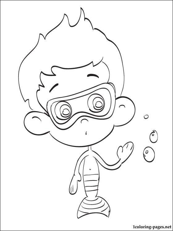 560x750 Nonny Bubble Guppies Coloring Drawing Coloring Pages