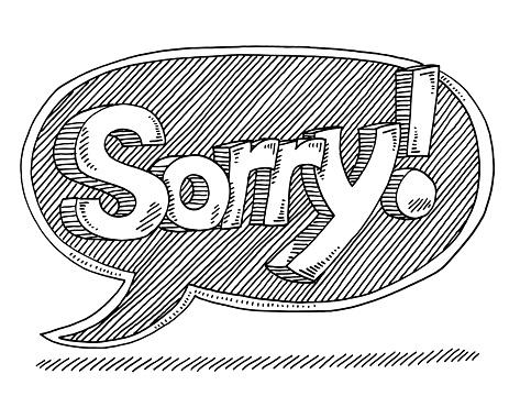 463x370 Sorry Text Speech Bubble Drawing Zeichnungen
