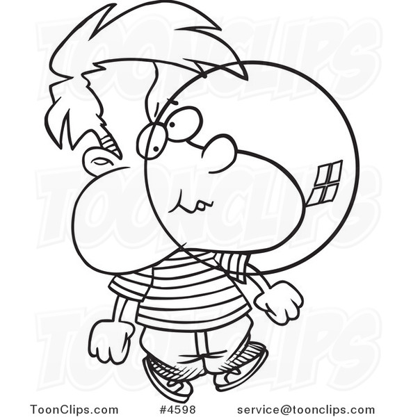 581x600 Cartoon Black And White Line Drawing Of A Boy Blowing Bubble Gum