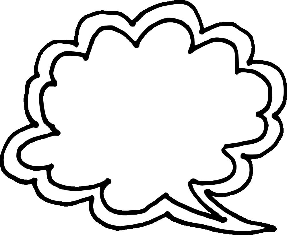1000x818 50 Hand Drawn Comic Speech Bubbles Vector (Svg, Png Transparent