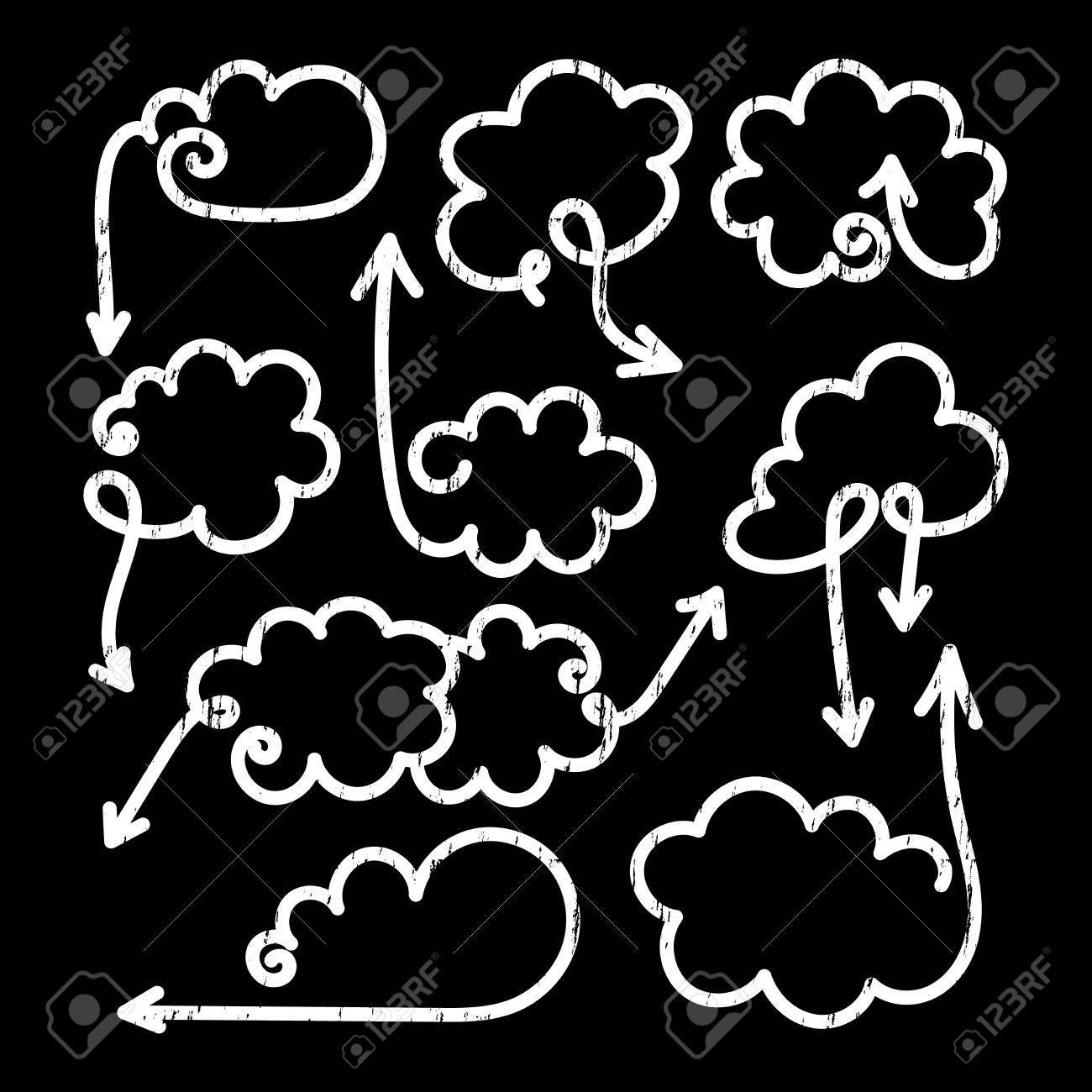 1300x1300 Set Of Speech Bubbles With Arrows. Empty Cloud Citation Template