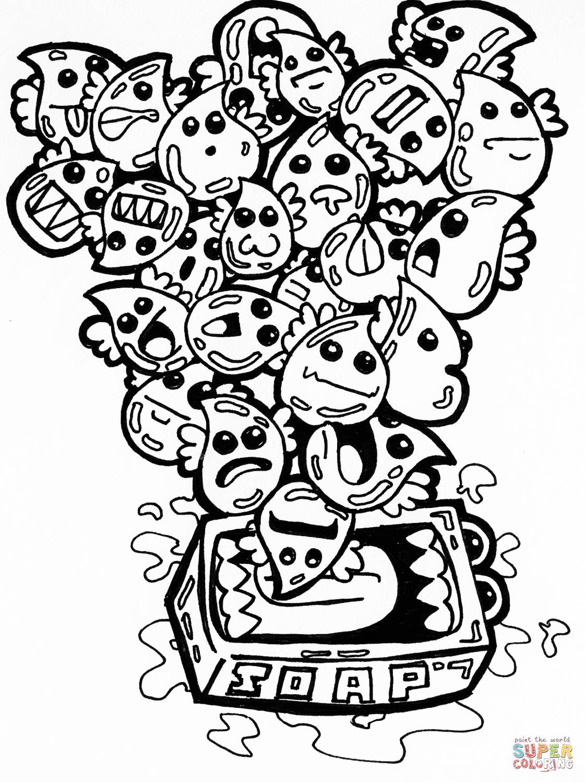 1121x1500 Soap Bubbles Doodle Coloring Page Free Printable Coloring Pages