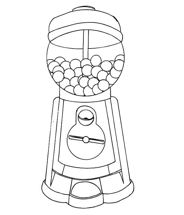 graphic about Gumball Machine Printable identify Bubble Gum Unit Drawing at  Totally free for