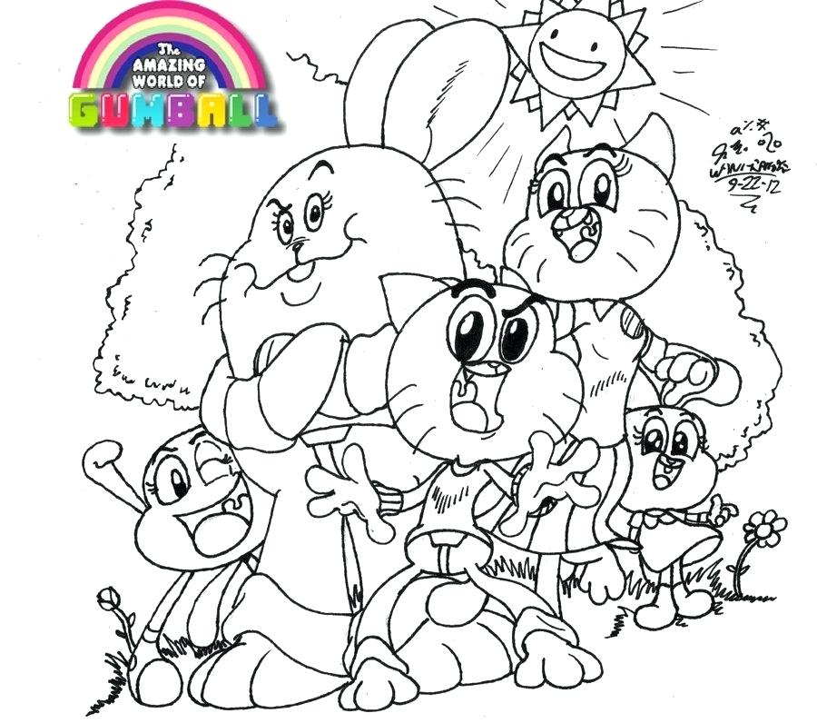 900x796 Gumball Coloring Pages Gumball The Gumball Machine Coloring