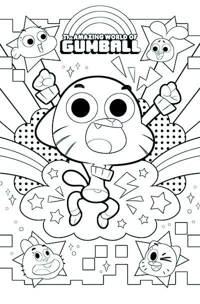 400x608 Gumball Coloring Sheet Print