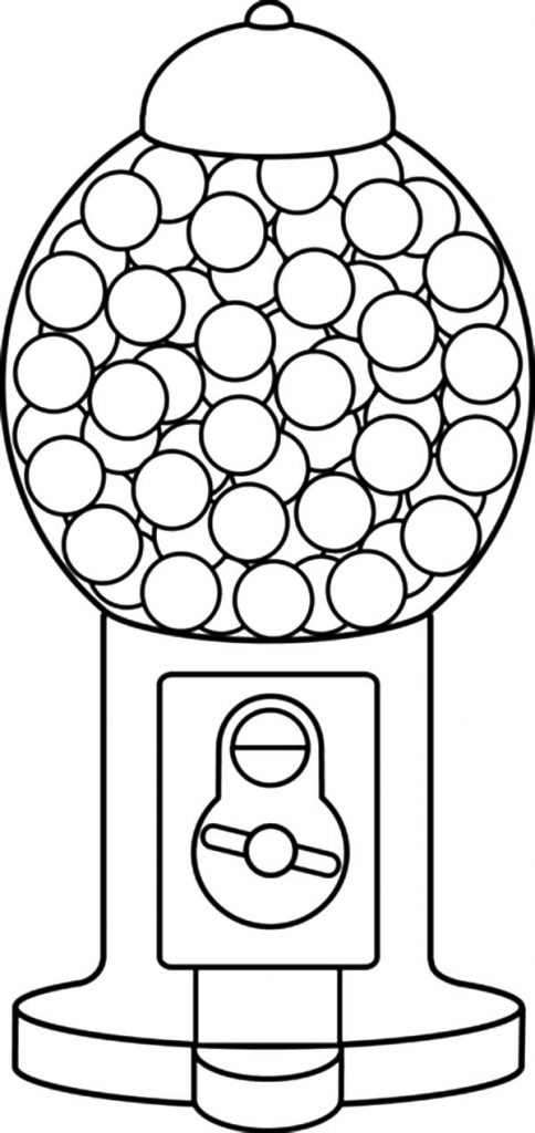 484x1024 Gumball Machine Coloring Page