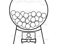 200x150 Gumball Machine Coloring Page Fresh Bubble Gum Machine Drawing