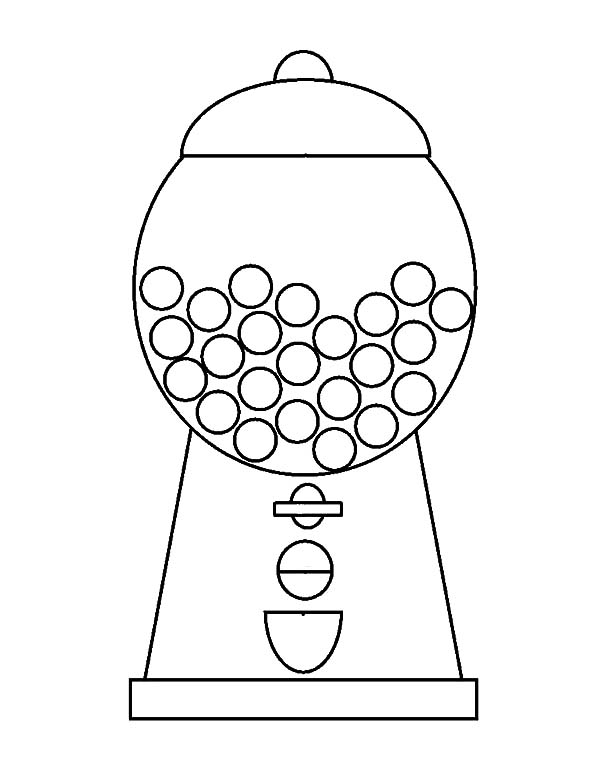 600x776 Gumball Machine Coloring Worksheet Gumball Machine Coloring Page