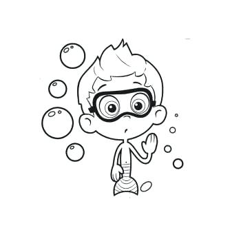 350x350 Bubble Guppies Coloring Pages Free Printable Best Images On