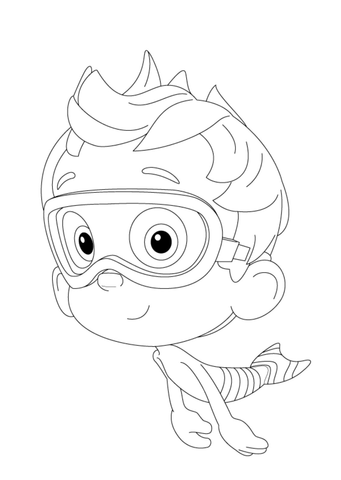 1134x1595 Bubble Guppies Coloring Pages Nonny Cartoon Coloring Pages