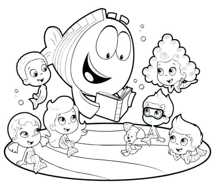 700x601 Bubble Guppies Coloring Pages Plus Bubble Guppy Coloring Pages