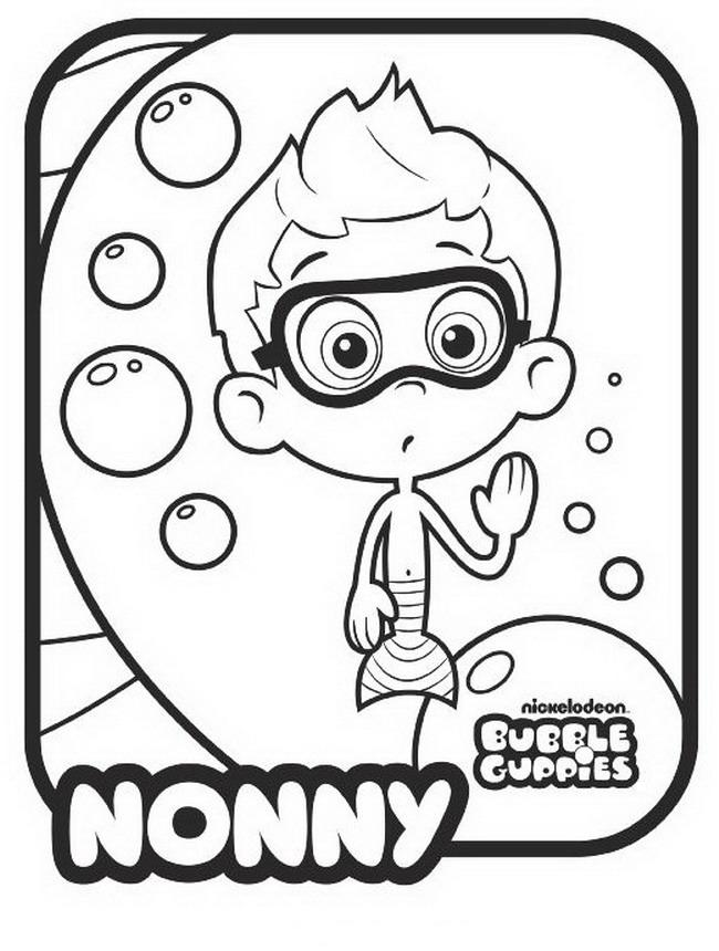 650x860 Bubble Guppies Drawings Nonny Coloring ~ Child Coloring