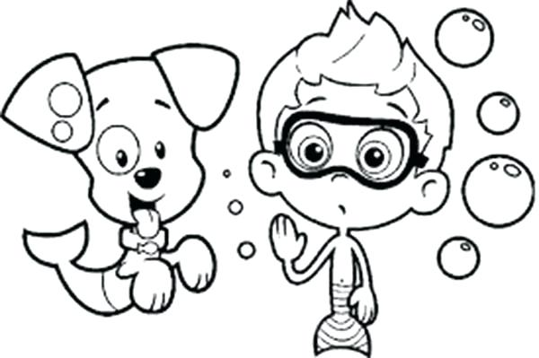600x399 Best Of Bubble Guppies Coloring Pages Pictures Bubble Guppy