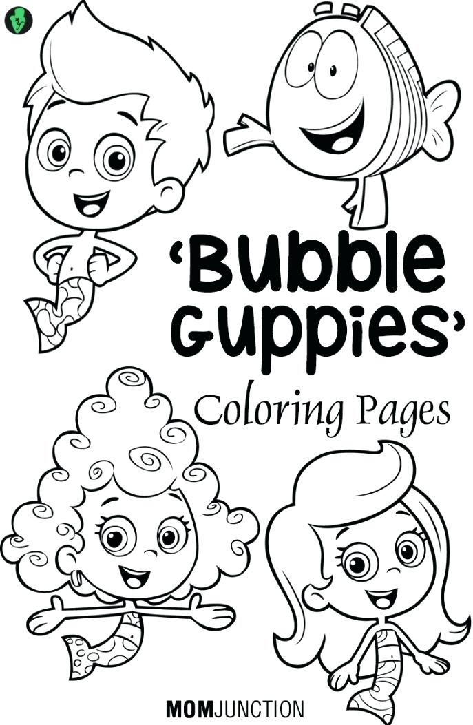 687x1053 Bubble Guppy Coloring Pages Coloring Bubble Guppies Coloring Pages