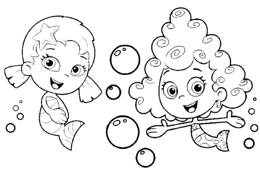 850x567 Fancy Bubble Guppies Color 62 For Your Coloring Site With Bubble