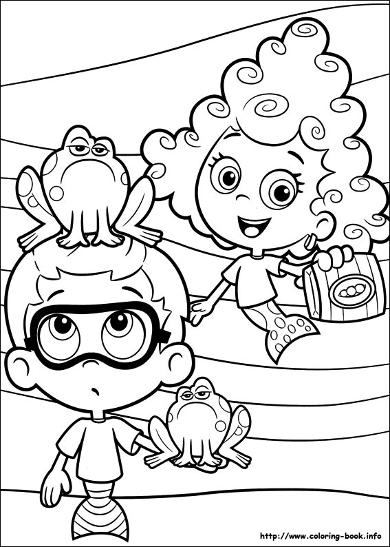 567x794 Guppies Coloring Picture