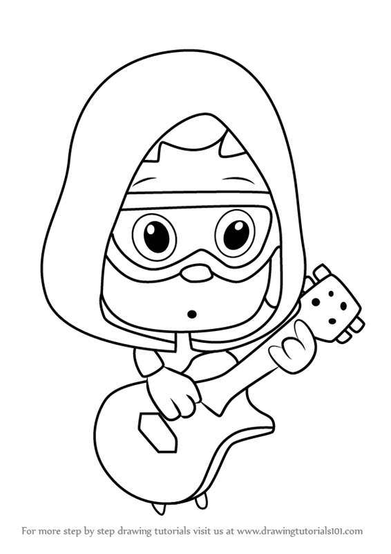 566x800 Learn How To Draw Under Guppy From Bubble Guppies (Bubble Guppies
