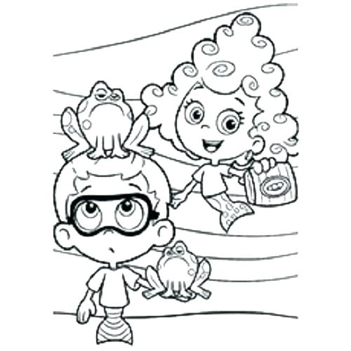 500x500 Water Bottle Coloring Page Printable Bubble Guppies Bubble Guppies