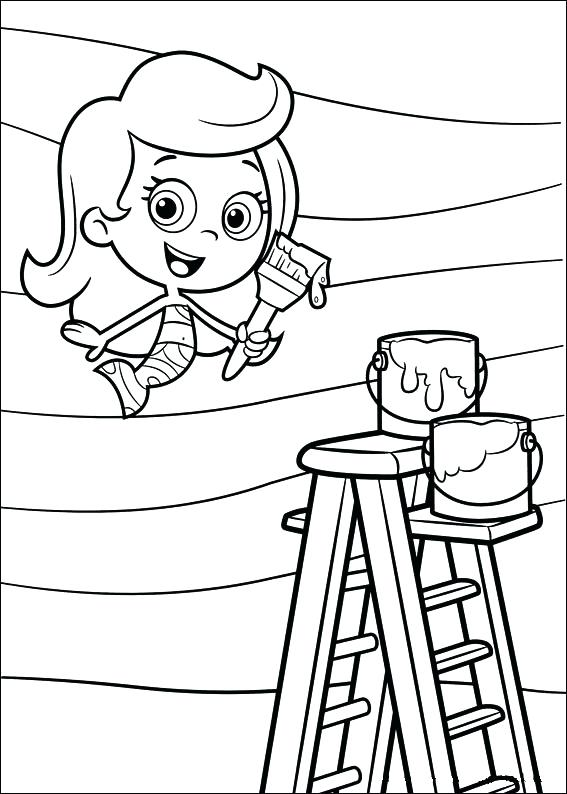 567x794 Bubble Guppies Coloring Pages Bubble Guppies Molly Painting