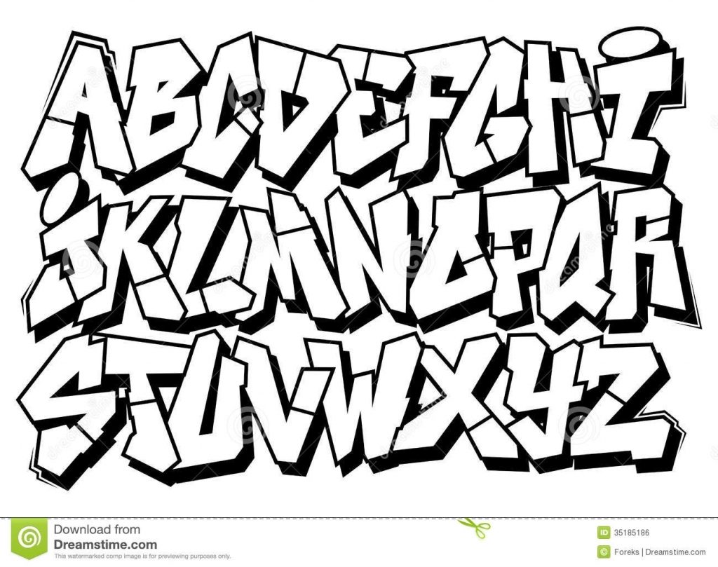 1024x809 Drawing Of Bubble Letters How To Draw Gangster Letters