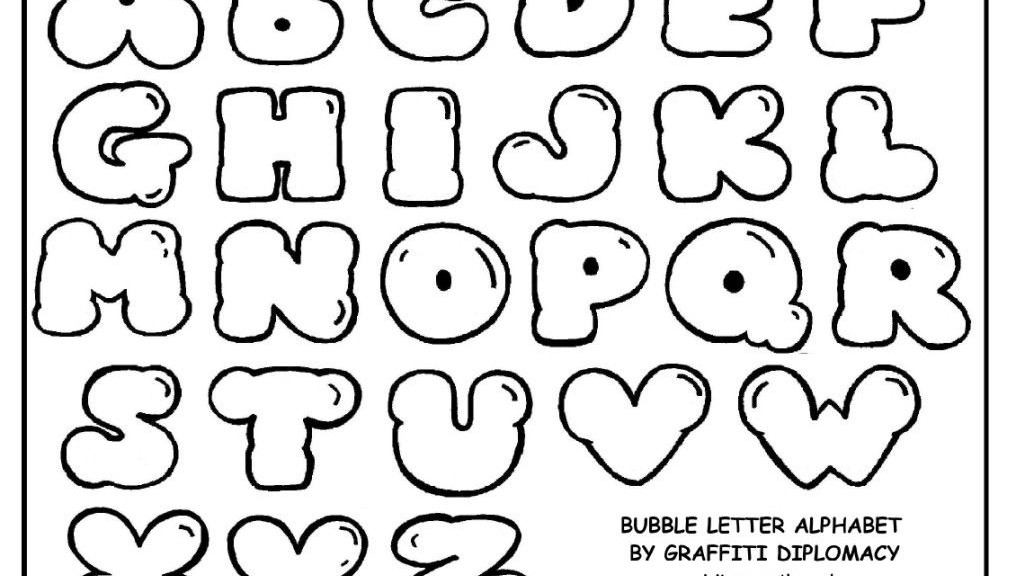 1015x576 Free Fancy Bubble Letters (A Z) To Draw