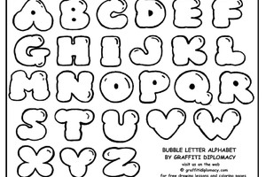 300x200 can you draw bubble letters