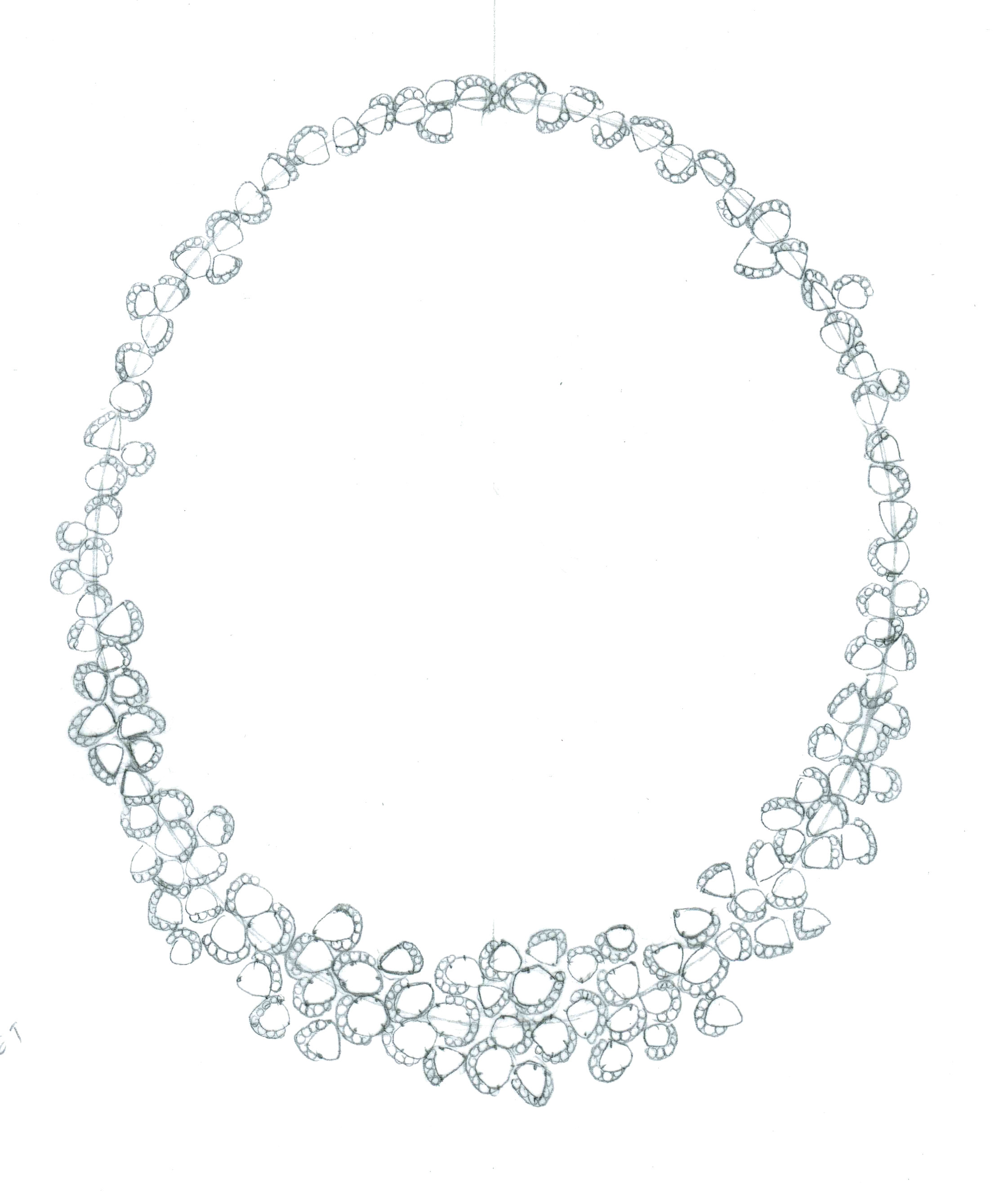 2242x2656 Champagne Bubbles Wreath Necklace Drawing.