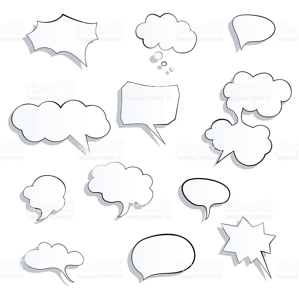 1024x1024 Unique Set Of Ic Speech Bubbles Icon Thought Bubble Vector Drawing