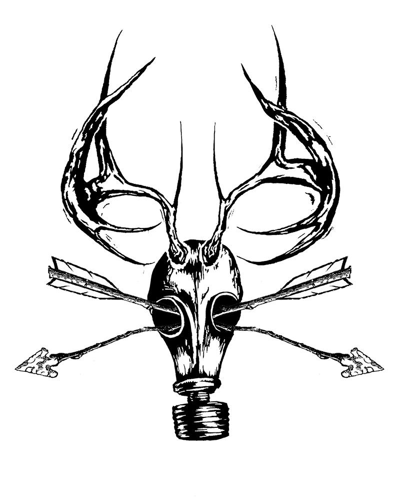 800x1000 Deer Skull Drawing Clipart Panda