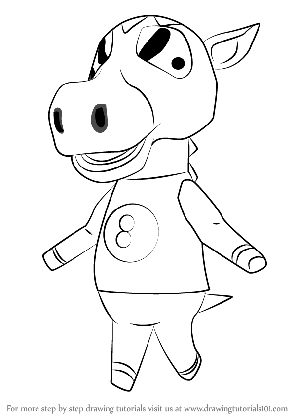 600x846 Learn How To Draw Buck From Animal Crossing (Animal Crossing) Step
