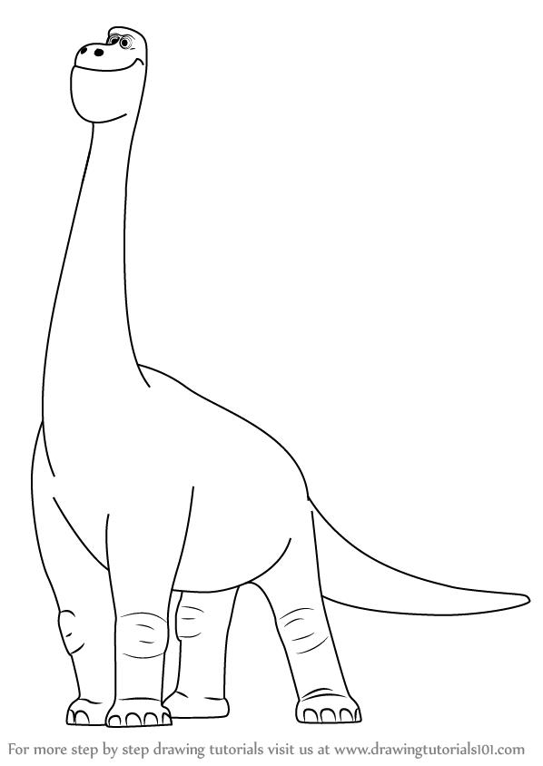 598x844 Learn How To Draw Buck From The Good Dinosaur (The Good Dinosaur