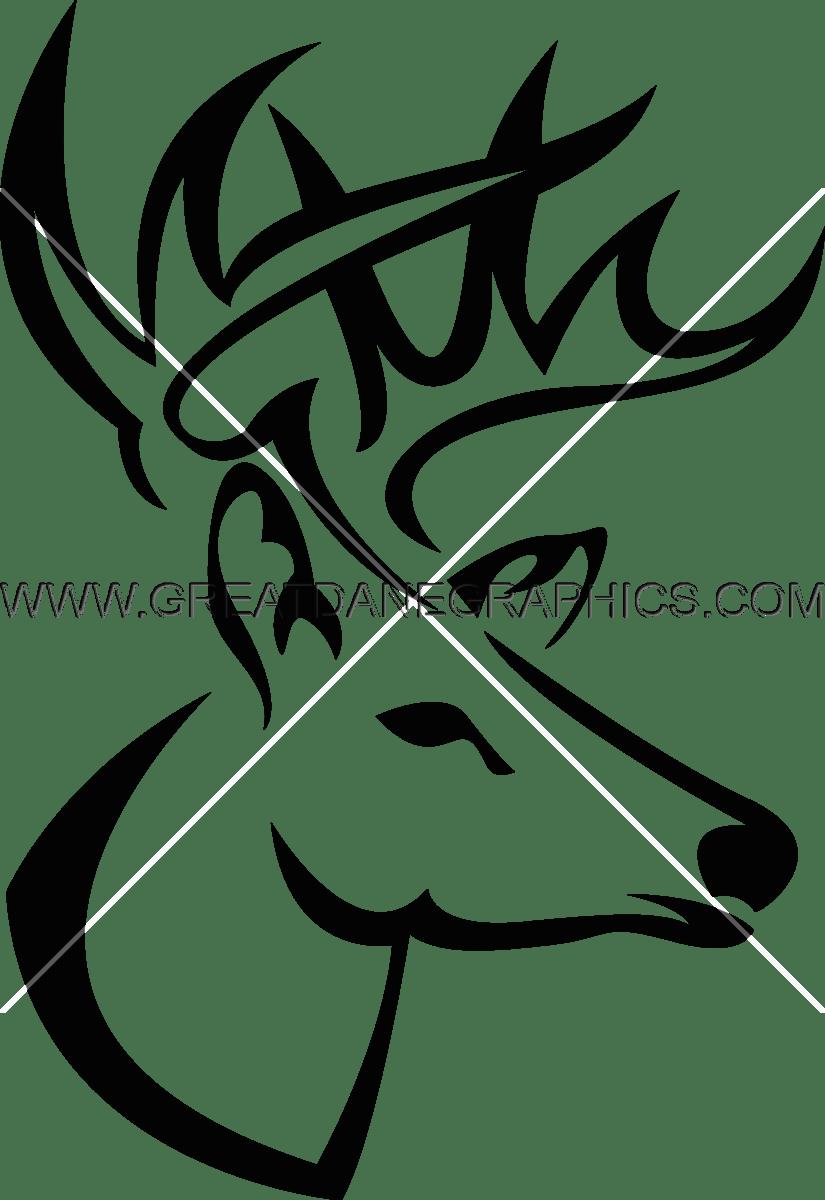 825x1200 Buck Head Production Ready Artwork For T Shirt Printing