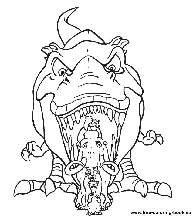 636x715 Buck The Weasel From Ice Age Coloring Pages Bulk Color