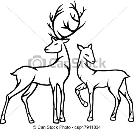 450x438 Drawing Deer Clipart, Explore Pictures